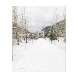 Idaho Bike Path in Winter Canvas Print