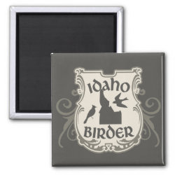 Square Magnet with Idaho Birder design
