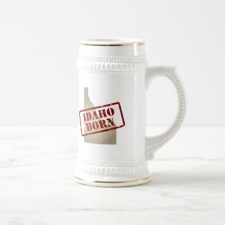 Idaho Born - Stamp on Map Beer Stein