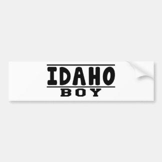 Idaho Boy Designs Car Bumper Sticker