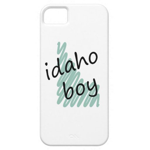 Idaho Boy on Child's Idaho Map Drawing iPhone 5 Cover