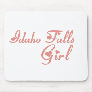 Idaho cae las camisetas del chica tapete de raton