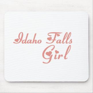 Idaho cae las camisetas del chica alfombrillas de ratones