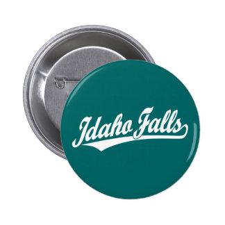 Idaho cae logotipo de la escritura en blanco pins