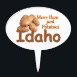 """IDAHO CAKE TOPPER<br><div class=""""desc"""">IDAHO Potatoes Spuds Nampa Pocatello &quot;Gem State&quot; Boise &quot;Tasty Destinations&quot; Travel Boulder</div>"""