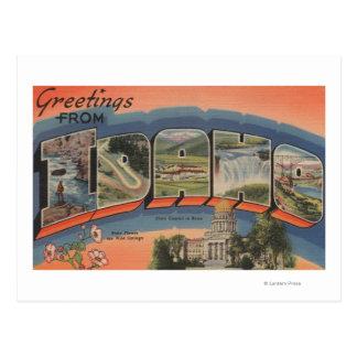 Idaho (Capital del Estado/flor) - letra grande Postales