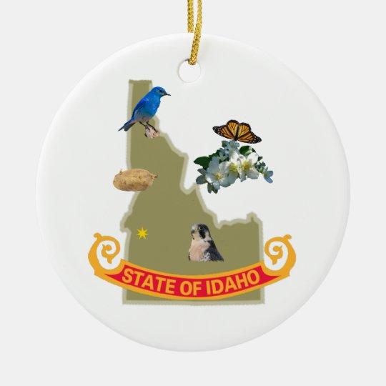 Idaho Ceramic Ornament