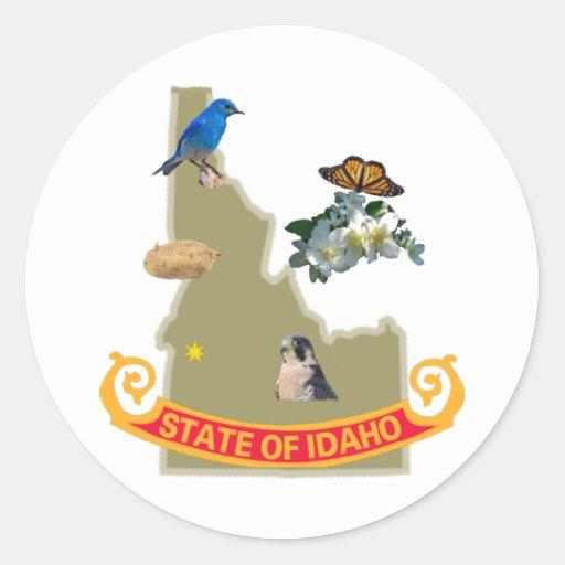 Idaho Classic Round Sticker