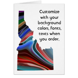Idaho Colorful Customize card how you like