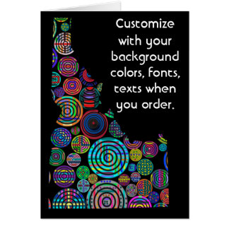 Idaho Colorful Customize card how you want it