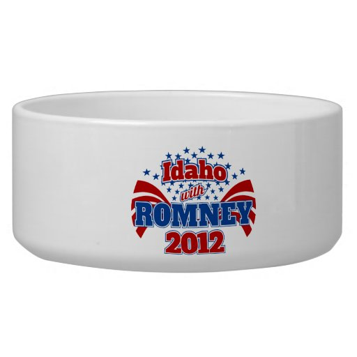 Idaho con Romney 2012 Bol Para Perro