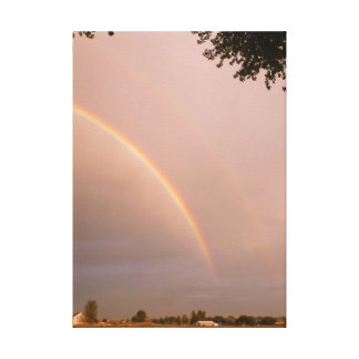 Idaho Country Rainbow Stretched Canvas Prints
