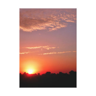 Idaho Country Sunset Gallery Wrapped Canvas