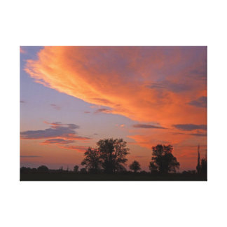 Idaho Country Sunset Stretched Canvas Prints