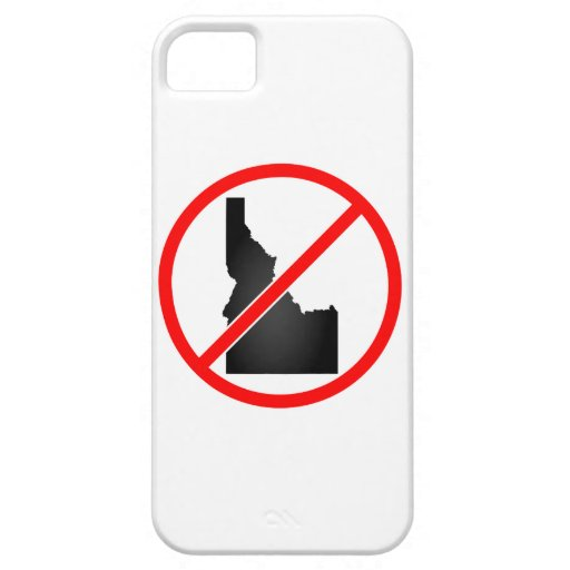 Idaho Cross Out Symbol iPhone 5 Covers