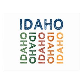 Idaho Cute Colorful Postcard