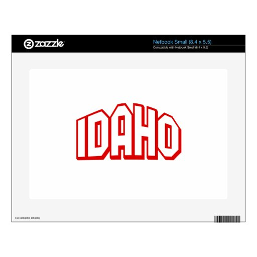 Idaho Decals For Small Netbooks