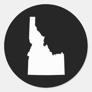 Idaho en blanco pegatina redonda