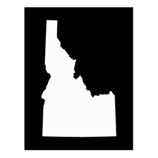 Idaho en blanco tarjeta postal