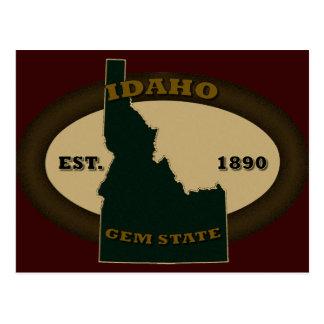 Idaho Est. 1890 Tarjeta Postal