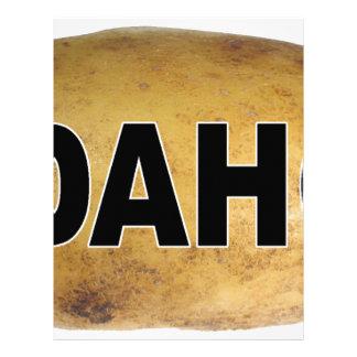 Idaho Euro Style Oval Car Decal Potatoes Letterhead
