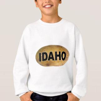 Idaho Euro Style Oval Car Decal Potatoes Sweatshirt