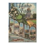Idaho Falls, Idaho - Large Letter Scenes Canvas Print