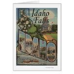 Idaho Falls, Idaho - Large Letter Scenes Card