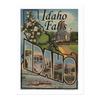 Idaho Falls Idaho - Large Letter Scenes Postcard