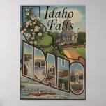 Idaho Falls, Idaho - Large Letter Scenes Poster