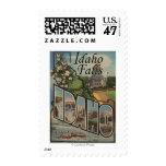 Idaho Falls, Idaho - Large Letter Scenes Stamp