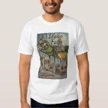 Idaho Falls, Idaho - Large Letter Scenes T-shirt