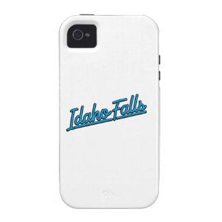 Idaho Falls in cyan iPhone 4/4S Covers