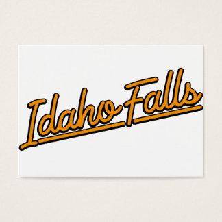 Idaho Falls in orange Business Card