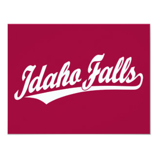 Idaho Falls script logo in white Card