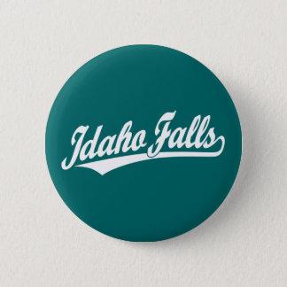 Idaho Falls script logo in white Pinback Button