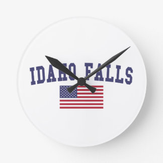 Idaho Falls US Flag Round Clock