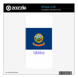 Idaho Flag And Name Decals For The iPhone 4S