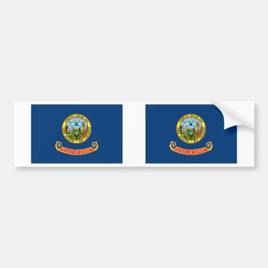Idaho Flag Bumper Sticker