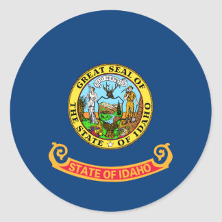 Idaho Flag Classic Round Sticker