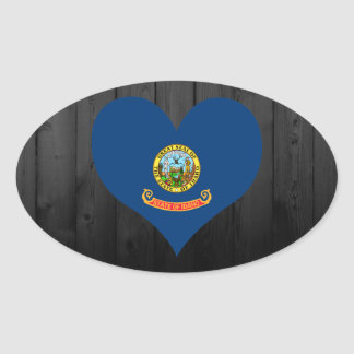 Idaho flag colored oval sticker