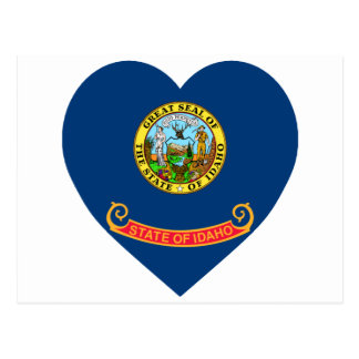 Idaho Flag Heart Postcard