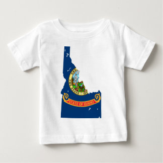 Idaho Flag Map Baby T-Shirt