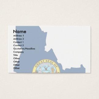 Idaho Flag Map Business Card