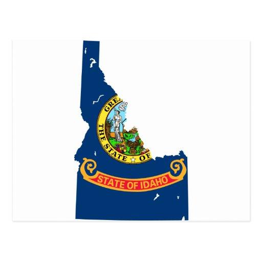 Idaho Flag Map Postcards