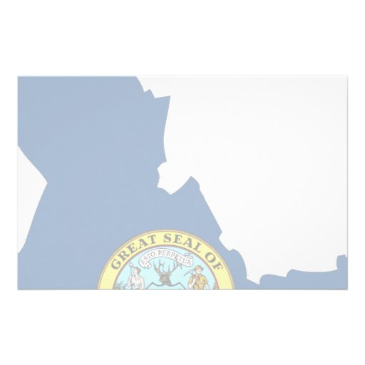 Idaho Flag Map Stationery