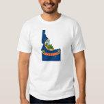 Idaho Flag Map Tshirts