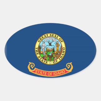 Idaho Flag Oval Sticker