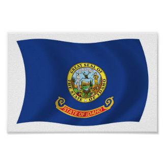 Idaho Flag Poster Print