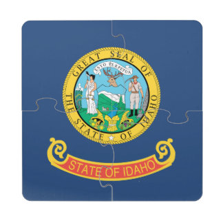 IDAHO FLAG PUZZLE COASTER